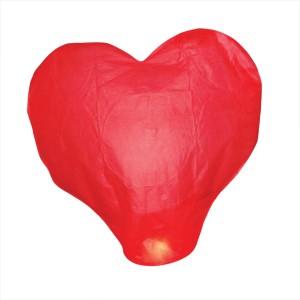 klik hier om deze wensballon in de vorm van een rode hart te kopen